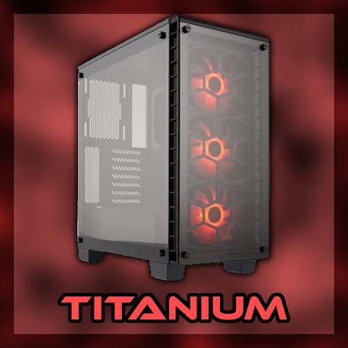 titanium red gaming pc
